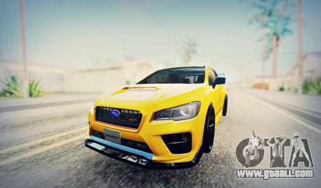 Subaru WRX STI S207 NBR CHALLENGE YELLOW EDITION for GTA San Andreas