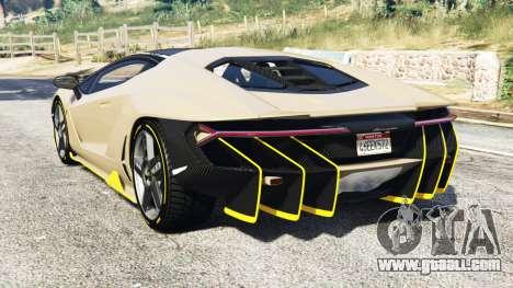 GTA 5 Lamborghini Centenario LP770-4 2017 [replace] rear left side view