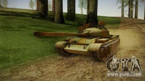 T-62 Desert Camo v2 for GTA San Andreas back left view
