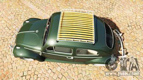 GTA 5 Volkswagen Fusca 1968 v1.0 [replace] back view