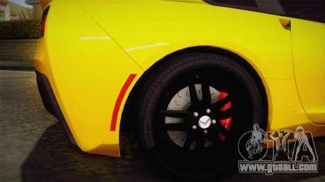Chevrolet Corvette Stingray 2015 for GTA San Andreas back view