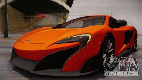 McLaren 675LT 2015 10-Spoke Wheels for GTA San Andreas upper view