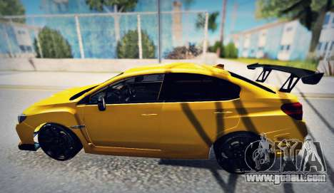 Subaru WRX STI S207 NBR CHALLENGE YELLOW EDITION for GTA San Andreas left view