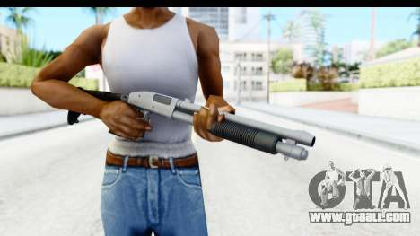Tactical Mossberg 590A1 Chrome v4 for GTA San Andreas third screenshot