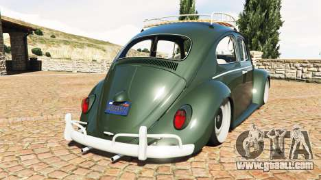 GTA 5 Volkswagen Fusca 1968 v1.0 [replace] rear left side view
