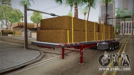 Trailer Americanos v2 for GTA San Andreas back left view