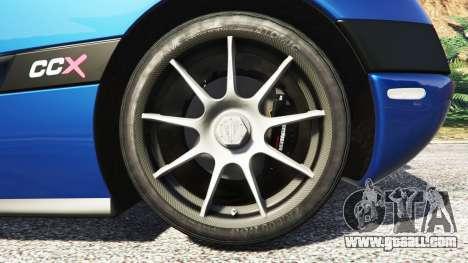 GTA 5 Koenigsegg CCX 2006 [Autovista] v2.0 [replace] rear right side view
