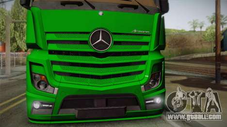 Mercedes-Benz Actros Mp4 4x2 v2.0 Gigaspace for GTA San Andreas right view