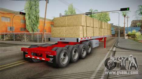 Trailer Americanos v2 for GTA San Andreas right view