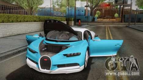 Bugatti Chiron 2017 v2.0 Korean Plate for GTA San Andreas upper view