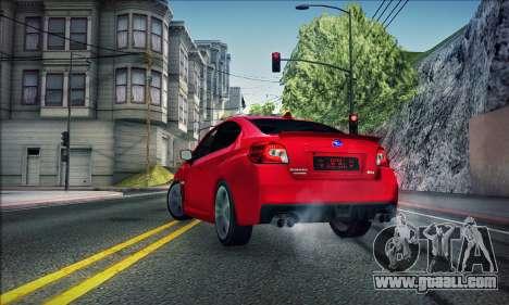 Subaru WRX 2015 for GTA San Andreas left view