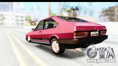 Volkswagen Passat Pointer GTS 1.8 1988 for GTA San Andreas left view