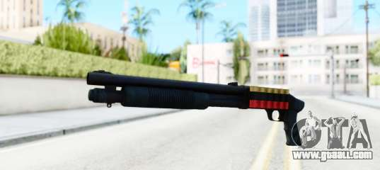 Tactical Paintball Vice City Ep 1: Tactical Mossberg 590A1 Black V3 For GTA San Andreas