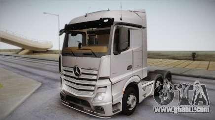 Mercedes-Benz Actros Mp4 6x2 v2.0 Steamspace for GTA San Andreas