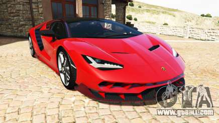 Lamborghini Centenario LP770-4 2017 v1.3 [a] for GTA 5