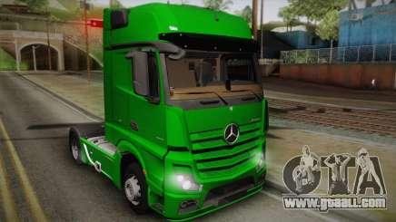 Mercedes-Benz Actros Mp4 4x2 v2.0 Gigaspace for GTA San Andreas