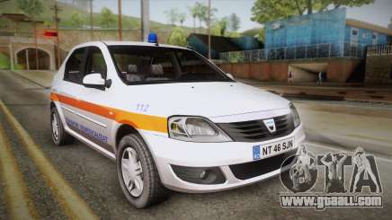 Dacia Logan Facelift Ambulanta v3 for GTA San Andreas
