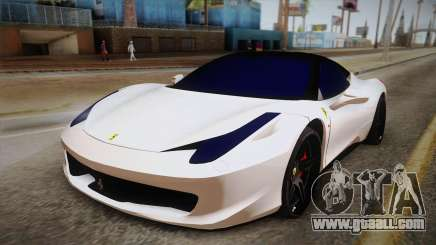 Ferrari 458 Italia for GTA San Andreas