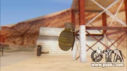 GTA 5 Grenade for GTA San Andreas