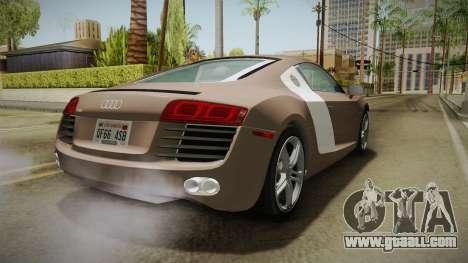 Audi R8 Coupe 4.2 FSI quattro US-Spec v1.0.0 v4 for GTA San Andreas right view
