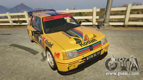 GTA 5 Peugeot 205 Turbo 16 back view