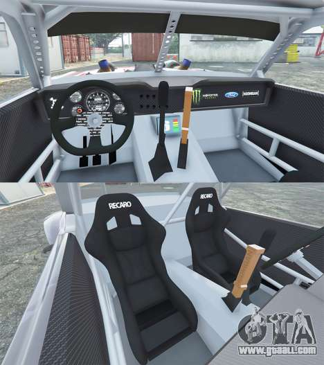 GTA 5 Ford Mustang 1965 Hoonicorn v1.3 [add-on] front right side view