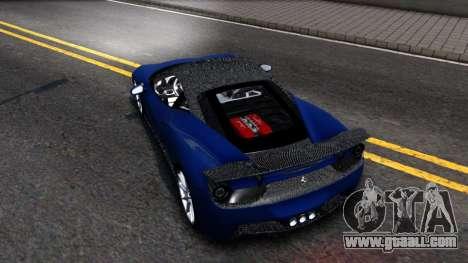Ferrari 458 Italia Tune for GTA San Andreas back left view