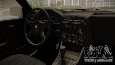 BMW M3 E30 Edit v1.0 for GTA San Andreas inner view