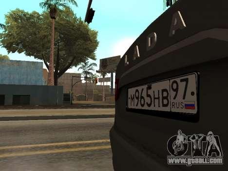 LADA Vesta BPAN for GTA San Andreas side view