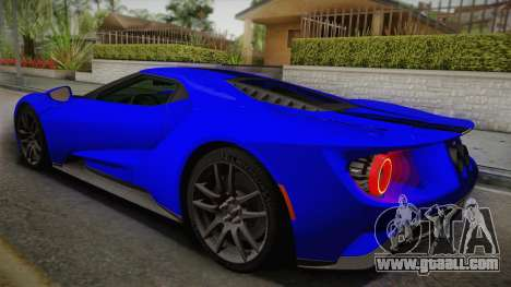 Ford GT 2017 for GTA San Andreas left view