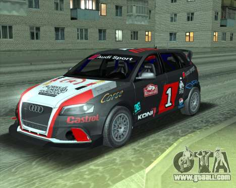 Audi RS3 Sportback Rally WRC for GTA San Andreas back view