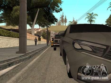 LADA Vesta BPAN for GTA San Andreas inner view