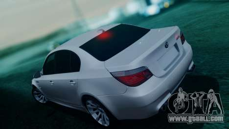 BMW M5 E60 for GTA San Andreas bottom view