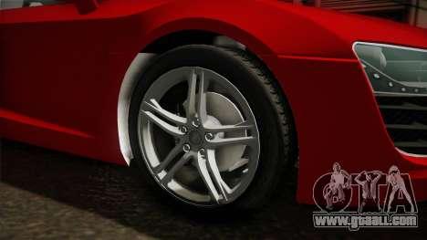 Audi R8 Coupe 4.2 FSI quattro EU-Spec 2008 YCH2 for GTA San Andreas back view