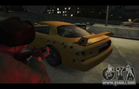 ZR 350 GTA San Andreas v1.0 for GTA 4 back view