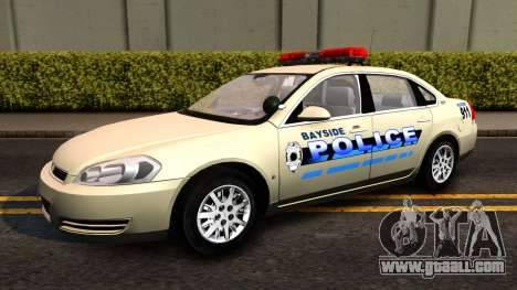 2007 Chevy Impala Bayside Police for GTA San Andreas back left view