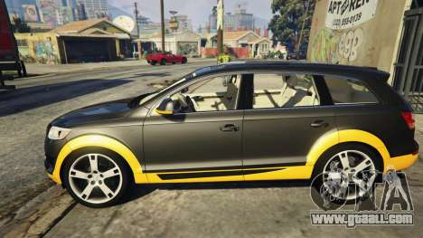 GTA 5 2009 Audi Q7 AS7 ABT left side view