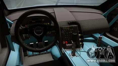 Aston Martin Racing DBR9 2005 v2.0.1 for GTA San Andreas inner view