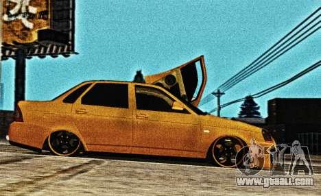 Lada Priora Tuning for GTA San Andreas left view