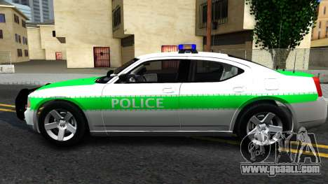 Dodge Charger German Police 2008 for GTA San Andreas left view