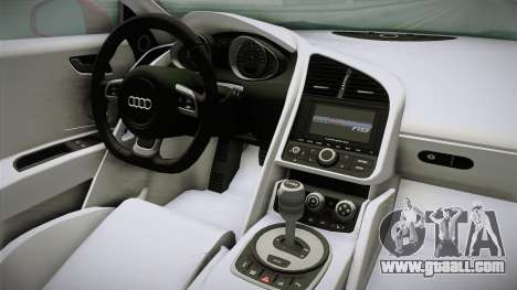 Audi R8 Coupe 4.2 FSI quattro EU-Spec 2008 YCH2 for GTA San Andreas inner view