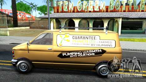 GTA V Declasse Burrito Commercial for GTA San Andreas left view