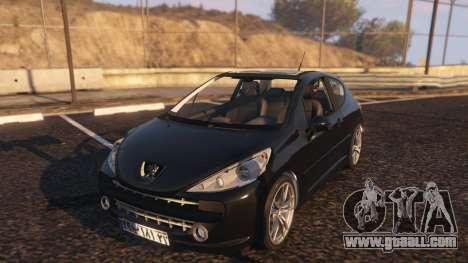 GTA 5 Peugeot 207 back view