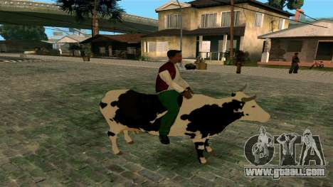Riding on the cow for GTA San Andreas second screenshot
