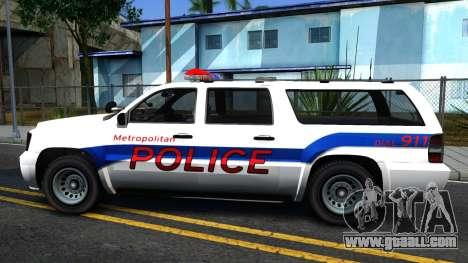 Declasse Granger Metropolitan Police 2012 for GTA San Andreas left view