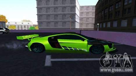 AUDI R8 LMS SPORTS for GTA San Andreas back left view