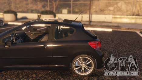 GTA 5 Peugeot 207 rear right side view