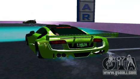 AUDI R8 LMS SPORTS for GTA San Andreas right view