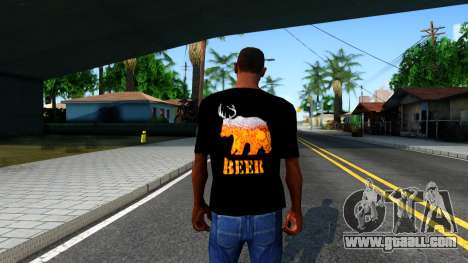 Black Beer T-Shirt for GTA San Andreas