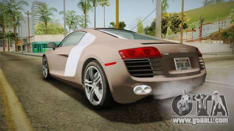 Audi R8 Coupe 4.2 FSI quattro US-Spec v1.0.0 v4 for GTA San Andreas left view